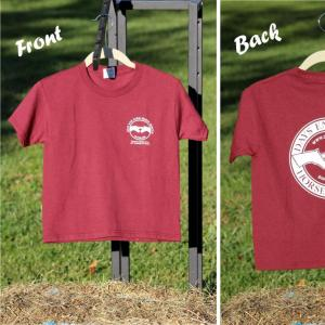 Youth Crew Neck T shirt in Maroon size Small