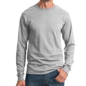 long sleeved unisex tee shirt in heather grey size small